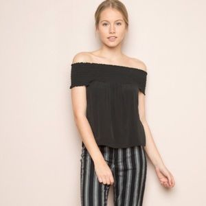 Brandy Melville Black Off The Shoulder Top